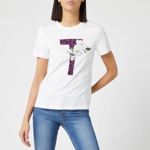 Ted Baker Women's Delilai Wilderness Logo Short Sleeve Tshirt - White