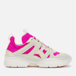 Isabel Marant Women's Kindsay Chunky Running Style Trainers - Fuchsia