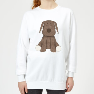 Candlelight Brown Dog Teddy Women's Sweatshirt - White