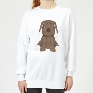 Candlelight Brown Dog Teddy Women's Sweatshirt - White