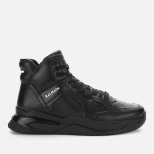 Balmain Men's B-Ball Leather Hi-Top Trainers - Black