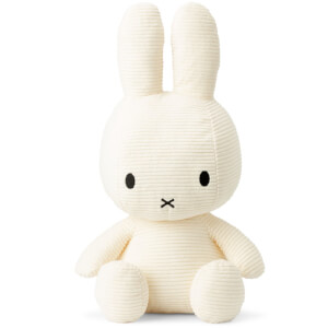 Miffy Sitting Corduroy 50cm Soft Toy - Off White