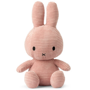 Miffy Sitting Corduroy 50cm Soft Toy - Pink