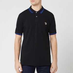PS Paul Smith Men's Regular Fit Tipped Polo Shirt - Black
