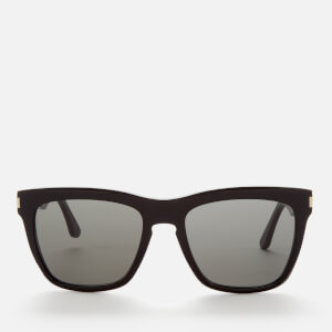 Saint Laurent Women's Devon Rectangle Acetate Sunglasses - Black/Grey
