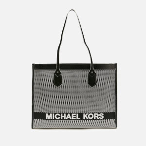 MICHAEL MICHAEL KORS Women's Bay Large Tote Bag - Black/White