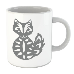 Folk Silhouette Fox Cutout Mug