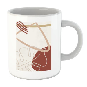 Decorative Leaf And Shape Print Mug