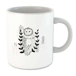 Line Art Owl Mug