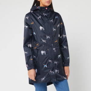 Joules Women's Golightly Printed Waterproof Packaway Jacket - May Day Dogs