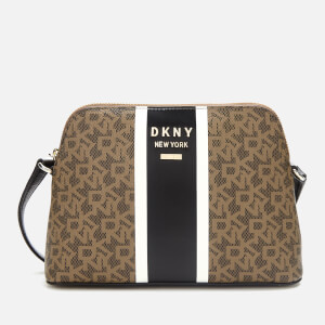 DKNY Women's Whitney Logo Dome Cross Body Bag - Mocha/Black