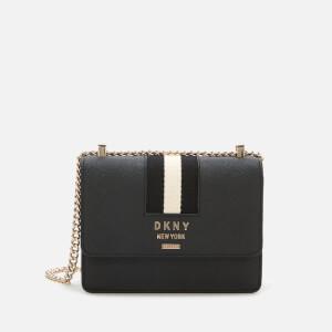 DKNY Women's Liza Small Shoulder Flap Bag - Black/Gold