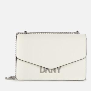 DKNY Women's Penelope Flap Shoulder Bag - White