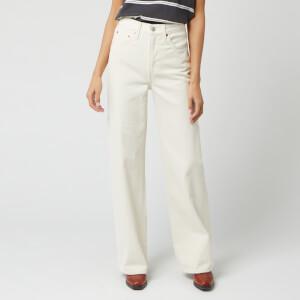Levi's Women's Ribcage Wide Leg Jeans - Icy Ecru