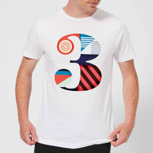 3 Men's T-Shirt - White