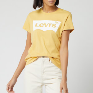 Levi's Women's The Perfect T-Shirt Box Outline - Yellow