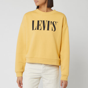 Levi's Women's Graphic Diana Crew Neck Sweatshirt - Yellow
