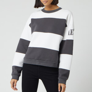 Levi's Women's CB Diana Crew Neck Sweatshirt - Iron/White