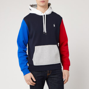 Polo Ralph Lauren Men's Double Knit Pop Over Hoody - Aviator Navy/Multi