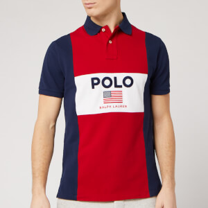 Polo Ralph Lauren Men's Centre Logo Polo Shirt - Polo Sport Red