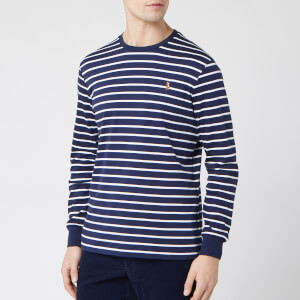 Polo Ralph Lauren Men's Long Sleeve Stripe T-Shirt - French Navy/White