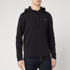 Polo Ralph Lauren Men's Hooded Jersey Pop Over - Polo Black