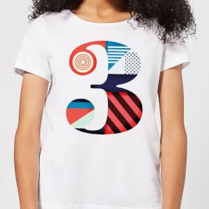 3 Women's T-Shirt - White