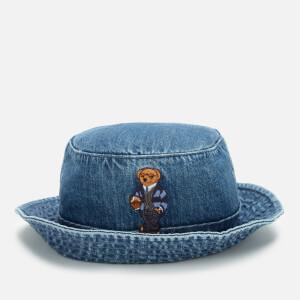 Polo Ralph Lauren Men's Bear Bucket Hat - Light Wash