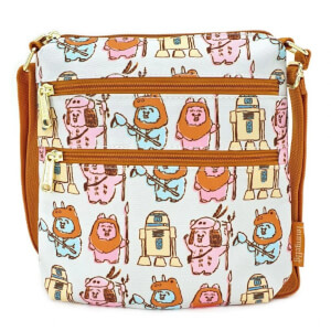 Loungefly Pastel Ewok AOP Nylon Passport Bag