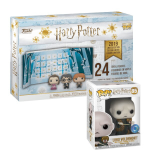 Harry Potter Pop! Advent Calendar (2019) and PIAB EXC Harry Potter Voldemort with Nagini Pop! Vinyl Figure