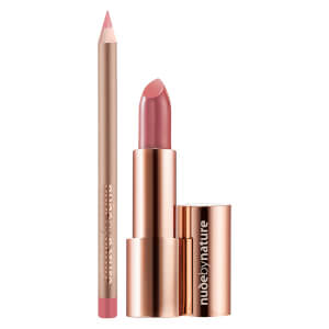 nude by nature Bliss 2 Piece Lip Kit - Dusty Rose