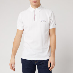 Tommy Hilfiger Men's Embroidered Logo Polo Shirt - White