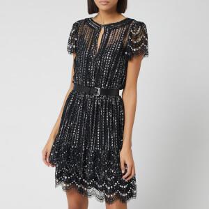 MICHAEL MICHAEL KORS Women's Lux Metal Lace Dress - Black/Silver