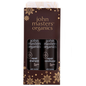 John Masters Organics Festive Gift Set Shampoo and Conditioner to Repair Dry & Damaged Hair