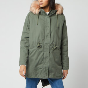 Superdry Women's Cheetah Rookie Parka Jacket - Khaki