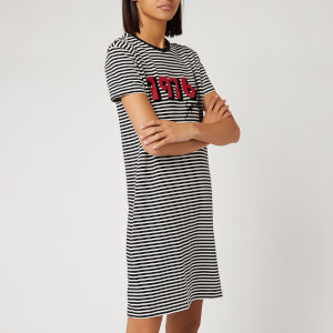 Superdry Women's Chrissi T-Shirt Dress - Black Stripe
