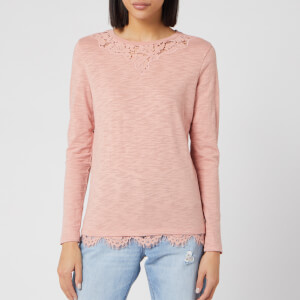 Superdry Women's Ellis Lace Long Sleeve Top - Vintage Blush