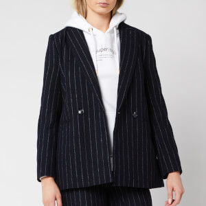 Superdry Women's Edit Sapporo Blazer - Navy Stripe