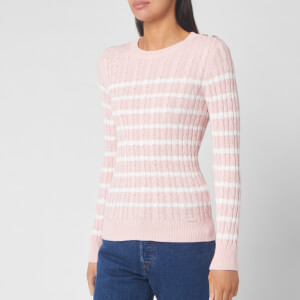 Superdry Women's Croyde Bay Cable Knitted Jumper - Soft Pink