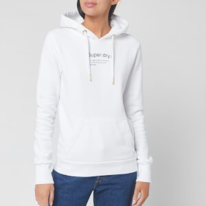 Superdry Women's Minimal Flagship Hoodie - Optic