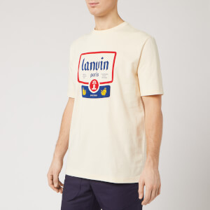 Lanvin Men's Big Label Short Sleeve T-Shirt - Ecru