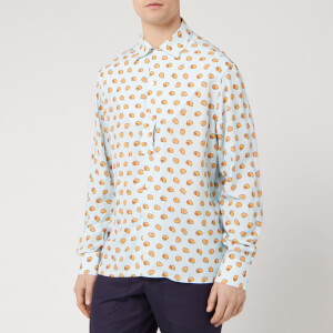 Lanvin Men's Long Sleeve Bowling Shirt - Lanvin Blue