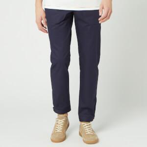 Lanvin Men's Slim Pants Buttoned Hem 14.5cm - Ink Blue