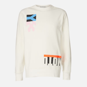 Y-3 Men's Swim M-Cut Crew Neck Sweatshirt - White