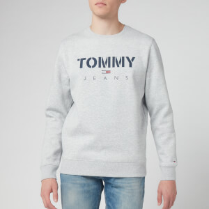 Tommy Jeans Men's Novel Logo Sweatshirt - Light Grey Heather