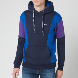Tommy Jeans Men's Colourblock Hoodie - Black Iris/Surf The Web/Royal Purple