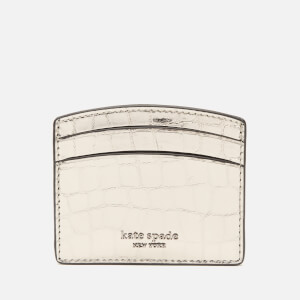 Kate Spade New York Women's Sylvia Croc Card Holder - Gunmetal