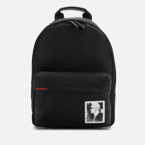 Karl Lagerfeld Legend Collection Women's Karl Legend Nylon Backpack - Black