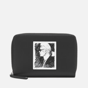 Karl Lagerfeld Legend Collection Women's Karl Legend Medium Zip Wallet - Black