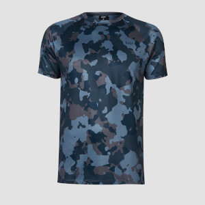 MP Training Heren Camo T-Shirt - Washed Blue